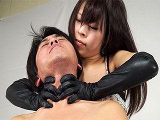 首絞め 失神 手コキ